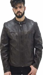 Coby Leather Jacket BROWN (M0007786)