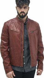 Riley 2 Leather Jacket BORDEAU (M0009478.PR)
