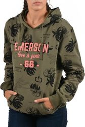 Emerson Women's hooded sweat 172.EW20.58 - PR 109 OLIVE
