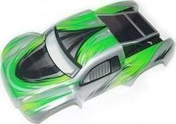 (YEL15008) - YellowRC Stadium Racer Body (Green) with decals