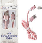 Volte-Tel Braided / Magnetic USB 2.0 to micro USB Cable Rose Gold 1m (VCD07)