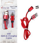 Volte-Tel Braided / Magnetic USB to Lightning Cable Κόκκινο 1m (VCD07)