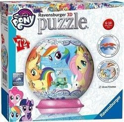 3D Μπάλα My Little Pony 72pcs (11843) Ravensburger