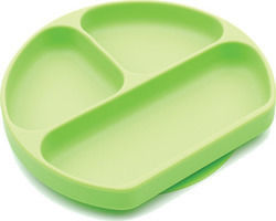 Bumkins Silicone Plate Green