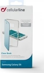 Cellular Line Clear Book Διαφανές Μπλε (Galaxy S6)
