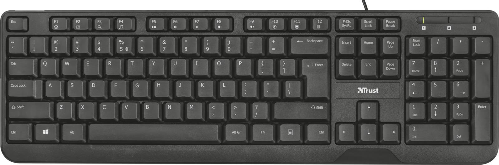 Trust Ziva Multimedia GR Keyboard  (22177) - Πληρωμή και σε έως 36 Δόσεις!!!
