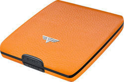 Tru Virtu Wallet Money & Cards Leather Orange Pebble