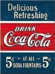 Nostalgic Art Coca Cola Delicious Refreshing 14322