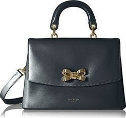 Ted Baker Lauree Looped Bow Leather Lady Bag 137934 Black