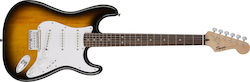 Square Bullet Stratocaster Hard Tail Brown Sunburst