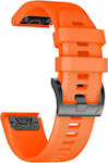 OEM Smooth Band Orange for Garmin Fenix 3/5X (26mm)