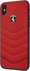 Ferrari Heritage Quilted Back Cover Δερμάτινο Κόκκινο (iPhone X)