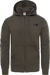 The North Face Logo Zip Hoodie Taupe T0CΕP721L