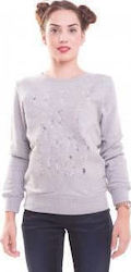 Funky Buddha Ladies Sweatshirt (Grey Melange) FBL107-6216