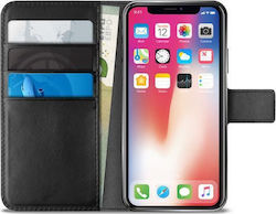 Puro Bookstyle Wallet Μαύρο (iPhone X/Xs)