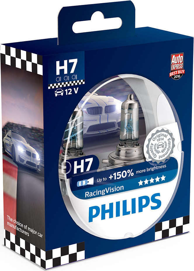 philips h7 racingvision 12v 2. Black Bedroom Furniture Sets. Home Design Ideas