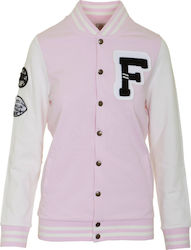FRANKLIN & MARSHALL W FLEECE FLEECE TEDDY LONG - FLWF516AMS18-885 PINK