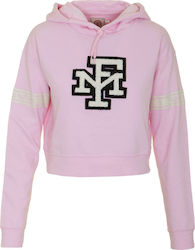 FRANKLIN & MARSHALL W FLEECE FLEECE TEDDY LONG - FLWF510ANS18-885 PINK