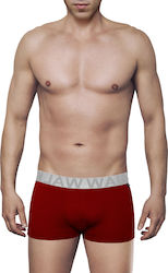 MEN'S BOXER BAMBOO BRIEF WITH EXTERNAL WAISTBAND ΚΟΚΚΙΝΟ ΣΚ.- ΑΣΗΜΙ - W1770