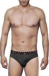 MEN'S SLIP BAMBOO BRIEF WITH EXTERNAL WAISTBAND ΓΚΡΙ ΣΚ.- ΓΚΡΙ ΣΚ. - W1775