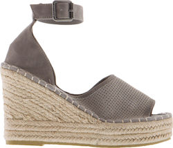 SUPERDRY W D2 ANNA WEDGE ESPADRILLE SHOES - GF1003YQ-05Q GREY