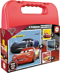 Cars 3 Progressive 4 Puzzles Bag 73pcs (17175) Educa