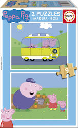 Peppa Pig Wood 2x9pcs (17156) Educa
