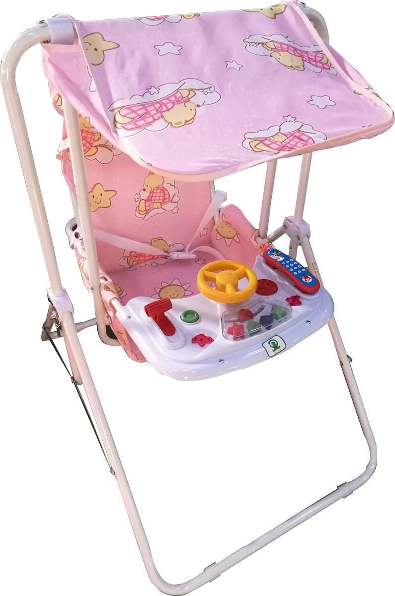 9005e0a240d Προσθήκη στα αγαπημένα menu Zita Toys Κούνια Βεράντας με Σκίαστρο & Μουσική  Ροζ