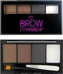 Makeup Revolution I Heart Brow Kit Bold Is Best
