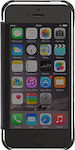 OEM Mirror Smart Clear View Window Flip Case Cover For iPhone 5/5s/SE- Black
