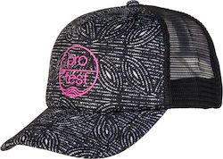 PROTEST EYKE TRUCKER CAP TRUE BLACK