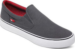 DC SHOES TRASE SLIP-ON TX ADYS300184 GREY-BLACK-RED(XSKR)
