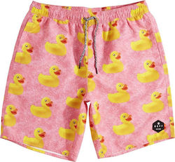 NEFF DAILY HOT TUB BOARDSHORT PINK WASH DUCKY
