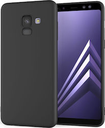 Caseflex Back Cover Σιλικόνης Solid Black (Galaxy A8 Plus (2018))