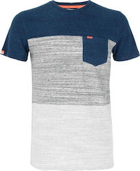 Superdry D3 Orange Label Haze Stripe Blue / Grey / White