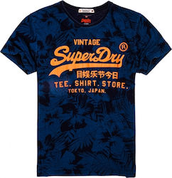 Superdry Shirt Shop Indigo AOP Navy