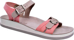Fantasy Sandals Cordelia S-3005 Pink Grey (Γκρι)