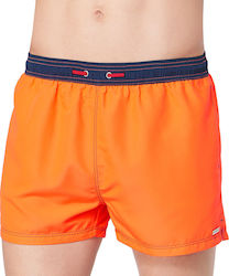 BOXER SLOGGI SWIM SUMMER NIGHTS 02 ΠΟΡΤΟΚΑΛΙ-ΜΠΛΕ