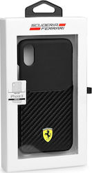 Ferrari Carbon Hard Back Cover Μαύρο (iPhone X)