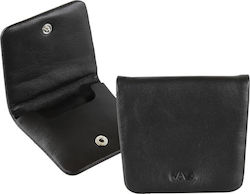 ΠΟΡΤΟΦΟΛΙ NAVA SM490N SMOOTH LEATHER COIN CASE BLACK NAVA DESIGNS
