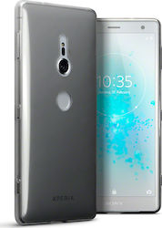 Terrapin Back Cover Σιλικόνης Διαφανές Μαύρο (Xperia XZ2)