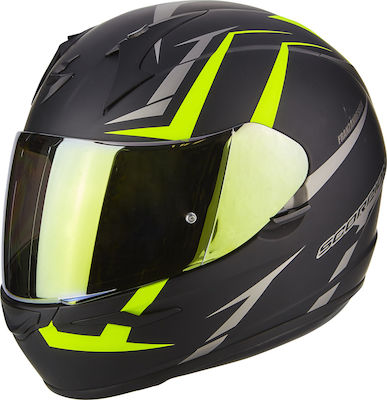 Scorpion EXO-390 Hawk Matt Black/Neon Yellow