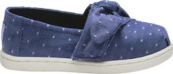 Toms Imperial Blue Dot Chambray Bow Tiny Classics 10011441 Μπλε