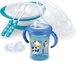 Nuk Esslern Set Cow Blue 6m+