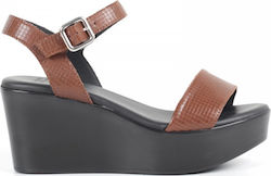 FRAU LEATHER WEDGES - Καφέ 14388S238/BROWN