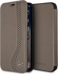 Mercedes Bow Book Walnut Brown (iPhone X/Xs)