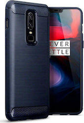 Terrapin Carbon Fibre Back Cover Σιλικόνης Μπλε (OnePlus 6)