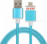 OEM Magnetic USB 2.0 to micro USB Cable Μπλε 1m
