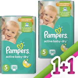 Pampers Active Baby Dry No 5 (11-18Kg) 2*50τμχ