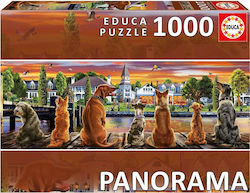 Dogs On The Quay Panorama 1000pcs (17689) Educa